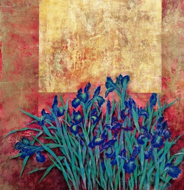 Red irise by Cai Xiaoli